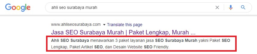 cara seo on page